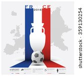 road to france 2016 football... | Shutterstock .eps vector #359130254