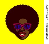 smiling groovy cool dude face ... | Shutterstock .eps vector #359132399