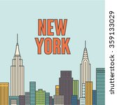vector new york background | Shutterstock .eps vector #359133029