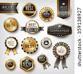 collection of shiny golden... | Shutterstock .eps vector #359138927