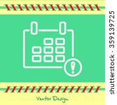 web line icon. calendar | Shutterstock .eps vector #359139725