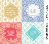 set of vintage frames in red ... | Shutterstock .eps vector #359140337