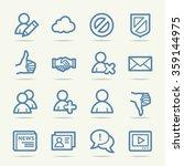 community. social media icons... | Shutterstock .eps vector #359144975