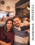 shot of a couple making funny... | Shutterstock . vector #359153111