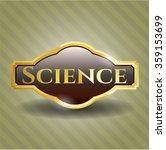 science gold emblem or badge | Shutterstock .eps vector #359153699