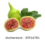 Figs Ripe With Leaves