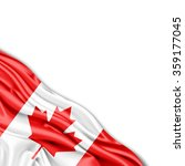 canada flag of silk with... | Shutterstock . vector #359177045