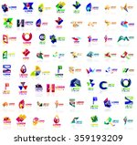 mega set of geometrical... | Shutterstock .eps vector #359193209