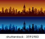 skyline of modern city. | Shutterstock .eps vector #3591983