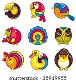 bird collection | Shutterstock .eps vector #35919955