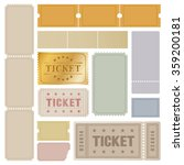 tickets | Shutterstock .eps vector #359200181