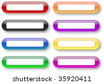 glossy rounded empty badges set ... | Shutterstock . vector #35920411