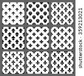 fleur de lis seamless patterns... | Shutterstock .eps vector #359213021