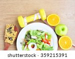 sport and healthy food for diet. | Shutterstock . vector #359215391
