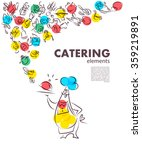 vector template of catering... | Shutterstock .eps vector #359219891