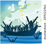 immigration people with  the... | Shutterstock .eps vector #359221961