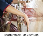 Woman Are Weaving Silk By...