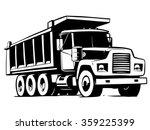 tipper truck illustration... | Shutterstock .eps vector #359225399