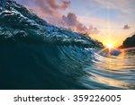 Beautiful Blue Ocean Surfing...