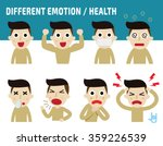 different emotion faces.... | Shutterstock .eps vector #359226539