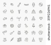 outline web icon set   party ... | Shutterstock .eps vector #359226941