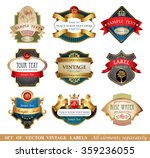 vctor luxury labels | Shutterstock .eps vector #359236055