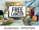 freelancer   freelance working... | Shutterstock . vector #359247665