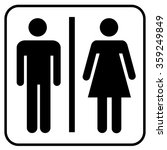 toilet icon toilet man   woman | Shutterstock .eps vector #359249849