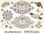 vintage roses design elements ... | Shutterstock .eps vector #359252261