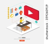 video content marketing.flat... | Shutterstock .eps vector #359260919