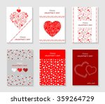 set of valentines day cards | Shutterstock .eps vector #359264729