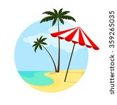 illustration of an umbrella and ... | Shutterstock .eps vector #359265035