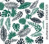 Tropical Leaf Print  Seamless...