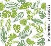 tropical leaf print  seamless...   Shutterstock .eps vector #359265731