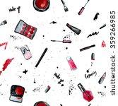 vector sketch glamorous pattern ... | Shutterstock .eps vector #359266985