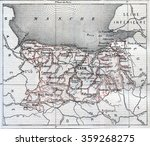 map of department of calvados ... | Shutterstock . vector #359268275