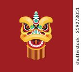 chinese new year lion dance head | Shutterstock .eps vector #359273051