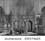 the rood screen of the church... | Shutterstock . vector #359274605