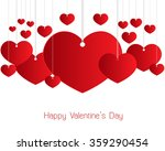 valentines day red heart.... | Shutterstock .eps vector #359290454