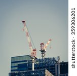 crane and building construction ... | Shutterstock . vector #359306201