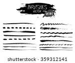 set three of grunge vector hand ...   Shutterstock .eps vector #359312141