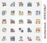moving icons set   vector... | Shutterstock .eps vector #359315867