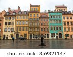 old town sqare in warsaw in a...   Shutterstock . vector #359321147