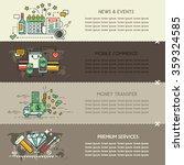 set eighteen of business banners | Shutterstock .eps vector #359324585