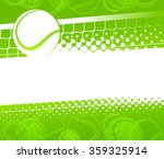 tennis ball on a green... | Shutterstock .eps vector #359325914