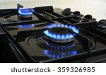 gas hob burner rings on an oven.
