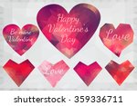 pink origami lowpoly heart... | Shutterstock .eps vector #359336711