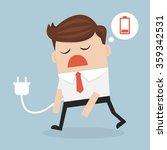 business concept  businessman... | Shutterstock .eps vector #359342531