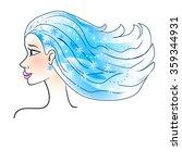 winter girl | Shutterstock .eps vector #359344931