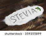 the word stevia written in... | Shutterstock . vector #359355899